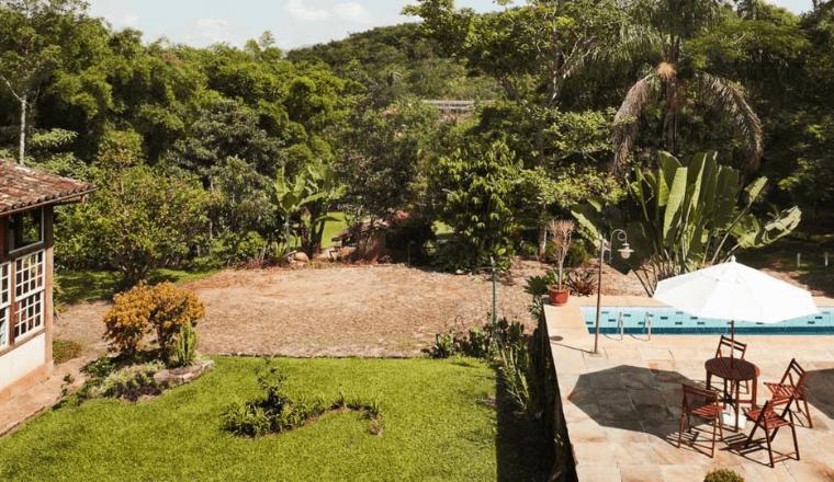 Jardim - Pousada d'Óleo de Guignard